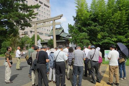 <まちあるき組>國暉酒造から須衛都久神社へ