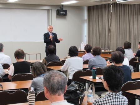 講師は、防災・危機管理アドバイザーの林繁幸氏 「自分の命は自分で守ること!」と強調