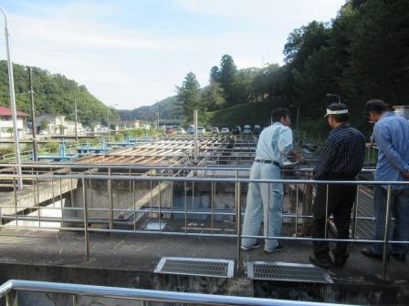 着水井は、ダムから運ばれた水が到着するところです