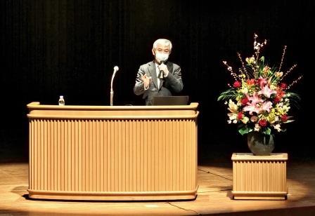 松江赤十字病院 大居慎治院長が、「健康で長生きするためには!」と題して講演